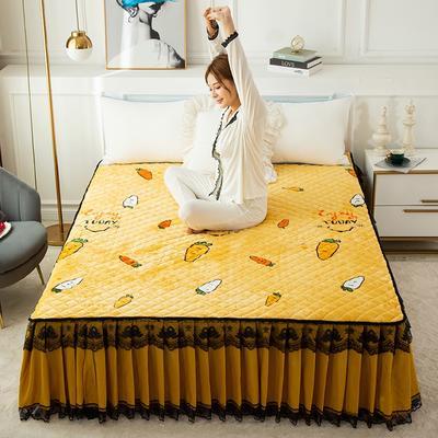 2020新款法莱绒夹棉床裙 120*200cm 萝卜