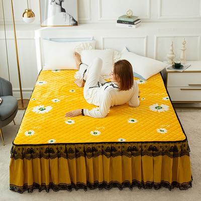 2020新款法莱绒夹棉床裙 120*200cm 暖菊