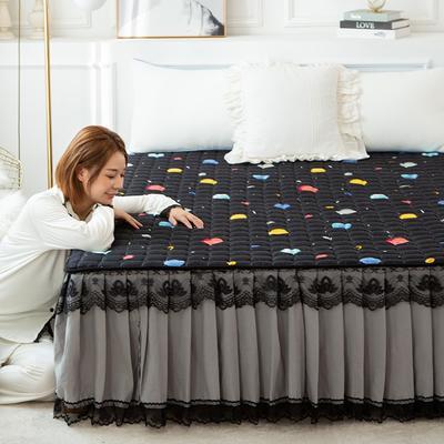 2020新款磨毛夹棉床裙 90*200cm 太空