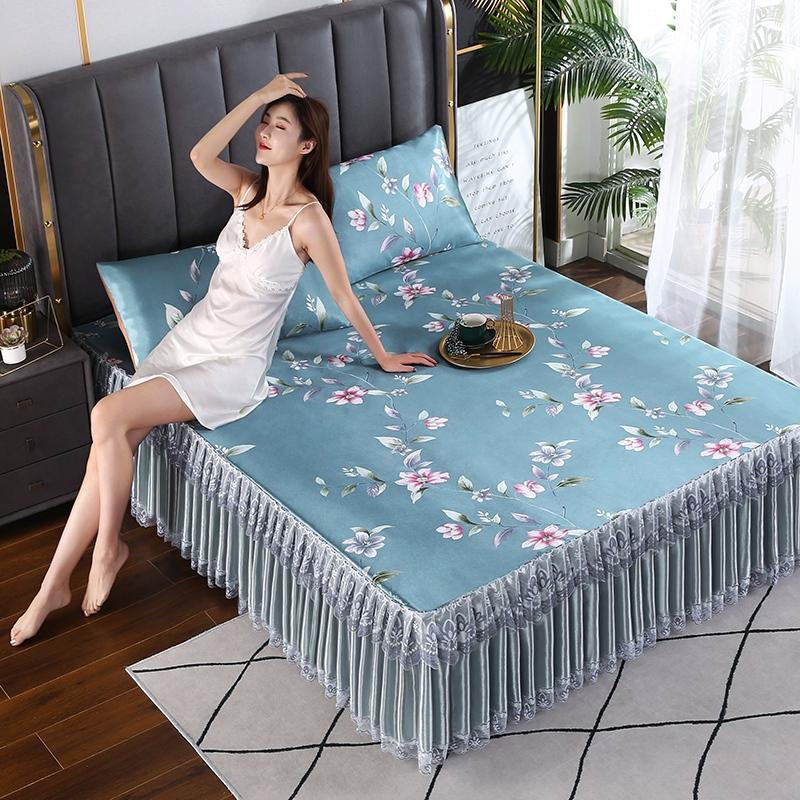 2021新款床裙款冰丝席凉席