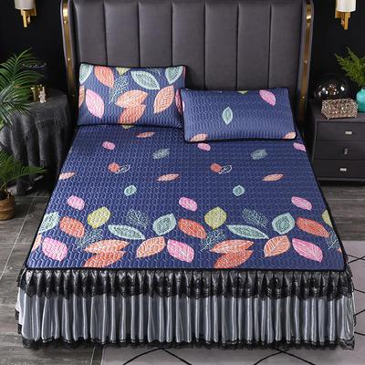 2021新款乳胶凉席床裙 180*200cm(三件套) 叶落