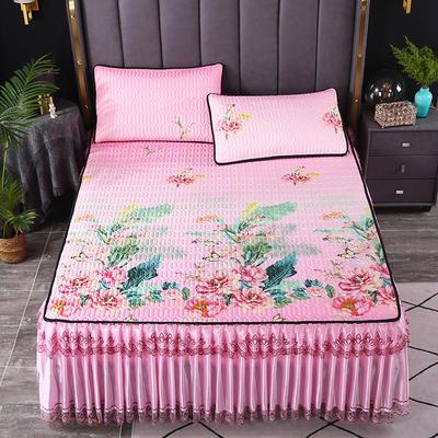 2021新款乳胶凉席床裙 180*200cm(三件套) 花西雅