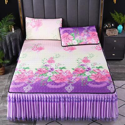 2021新款乳胶凉席床裙 180*200cm(三件套) 花团锦簇