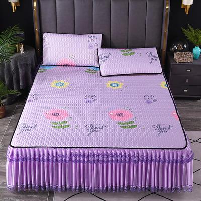 2021新款乳胶凉席床裙 120*200cm(两件套) 童年