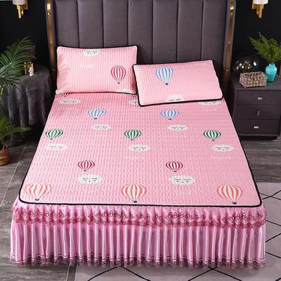 2021新款乳胶凉席床裙 120*200cm(两件套) 气球粉
