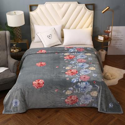 2021新款加厚云貂绒毛毯盖毯 150*200cm 典雅