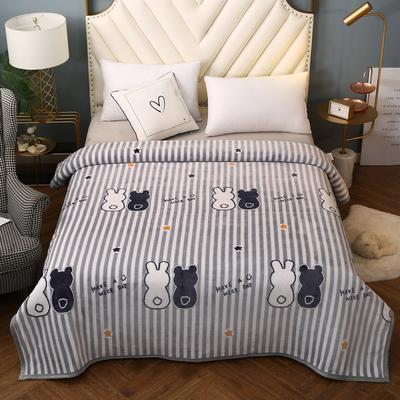 2021新款加厚云貂绒毛毯盖毯 150*200cm 黑白兔