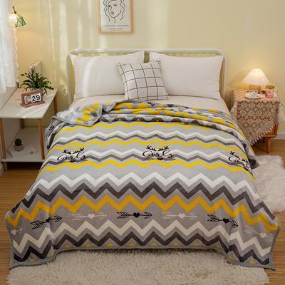 2021新款加厚云貂绒毛毯盖毯 150*200cm 花样年华