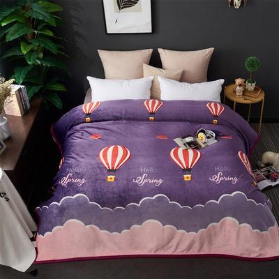 2021新款加厚云貂绒毛毯盖毯 150*200cm 气球