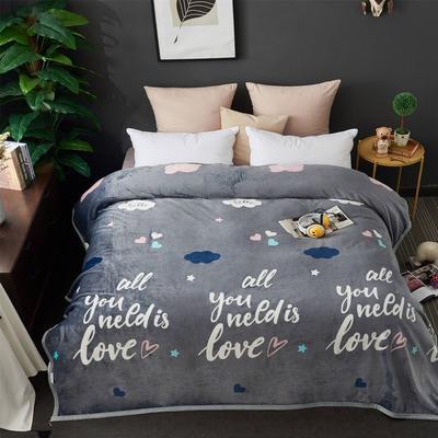 2021新款加厚云貂绒毛毯盖毯 150*200cm 所有的爱