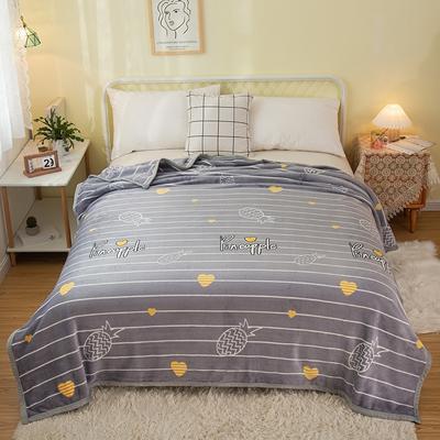 2021新款加厚云貂绒毛毯盖毯 150*200cm 小菠萝