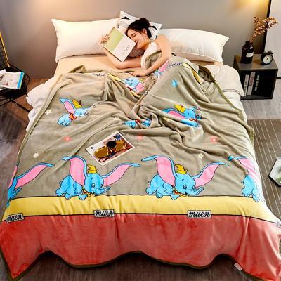2021新款加厚云貂绒毛毯盖毯 150*200cm 小飞象