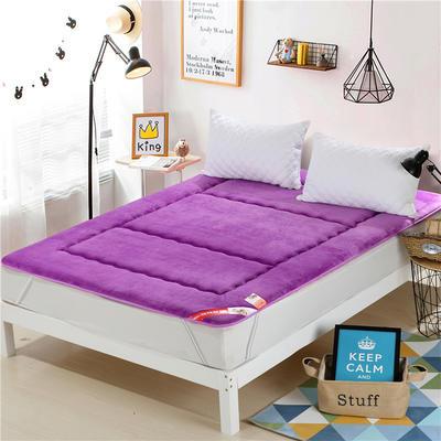 2017垫业床垫 法莱绒 90*200cm 紫色