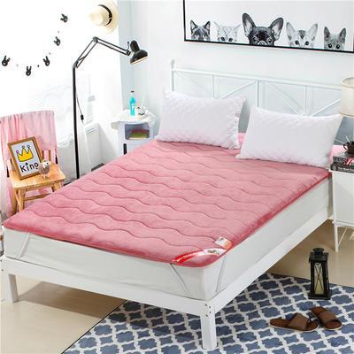 2017垫业床垫水晶绒 90*200cm 西瓜红