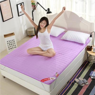 2017垫业床垫 磨毛绗绣 90*200cm 紫色