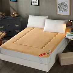 2017垫业床垫榻榻米 羊羔绒 90*200cm 优雅-驼色