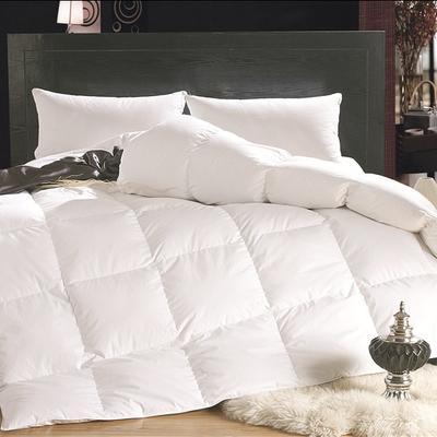 2017羽绒被 纯棉羽绒被 150*200(4斤) 纯棉防羽布白色