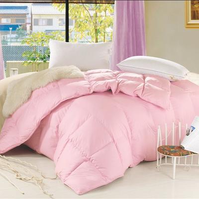 2017羽绒被 纯棉羽绒被 150*200(4斤) 纯棉防羽布粉色系列