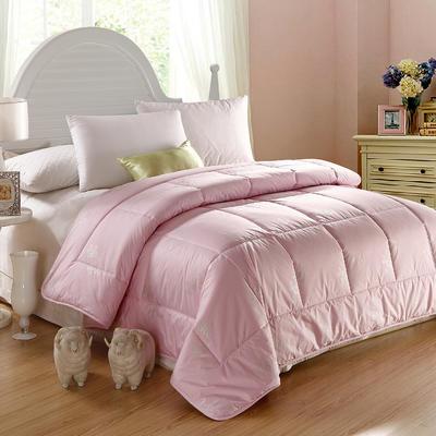 羊毛被 全棉羊毛被 200X230cm(6斤) 全棉羊毛被粉色