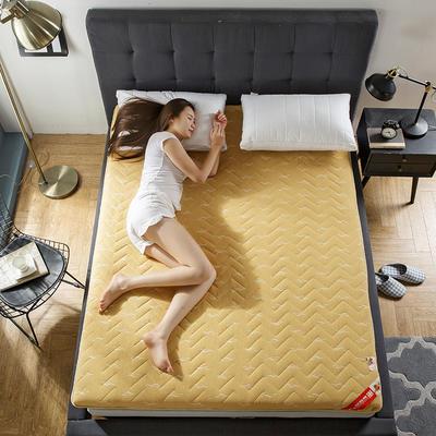 2018新款针织印花床垫-厚度10cm 90*200cm 驼色