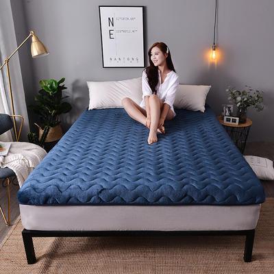 2019新款大床法莱绒终版床垫-6cm 0.9*2.0m 经典蓝