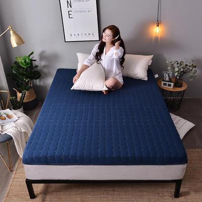 2019新款大床针织床垫-10cm 0.9*2.0m 经典蓝