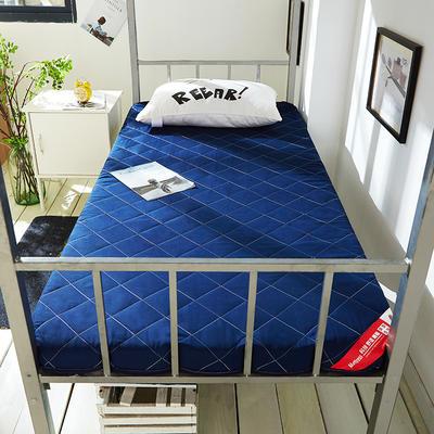 2019新款磨毛床垫终版-10cm 0.9*2.0m 磨毛蓝色