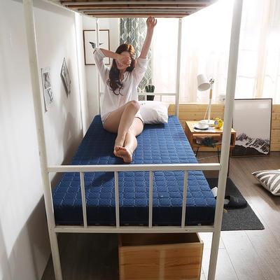 2019新款学生针织床垫终版-6cm 0.9*2.0m 经典蓝