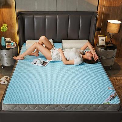 2020新款针织乳胶记忆棉床垫-6cm 180*200cm 石青