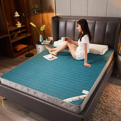 2020新款针织乳胶记忆棉床垫-9cm 80*190cm 墨绿