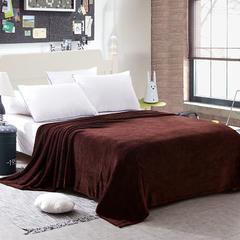 世纪绒品 240克金貂绒毛毯(素色) 150cm*200cm 棕色