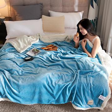 2018-双层牛奶绒贝贝绒毛毯