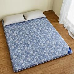 日系磨毛竹炭加厚床垫【支持定制加大】 0.9*2米 天空蓝