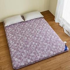 日系磨毛竹炭加厚床垫【支持定制加大】 0.9*2米 风情紫