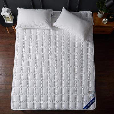 2019新款全棉美国英威达抗菌防螨床垫4色(1.5cm) 90*200 白色