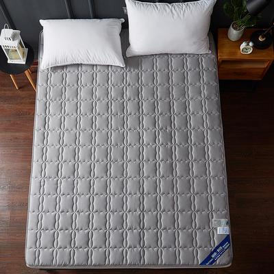 2019新款全棉美国英威达抗菌防螨床垫4色(1.5cm) 90*200 灰色
