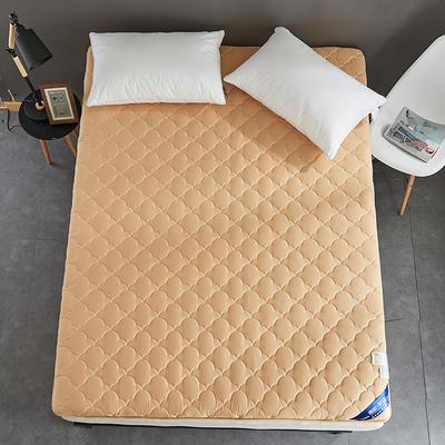 2019新款全棉美国英威达抗菌防螨床垫4色(4cm) 90*200 驼色