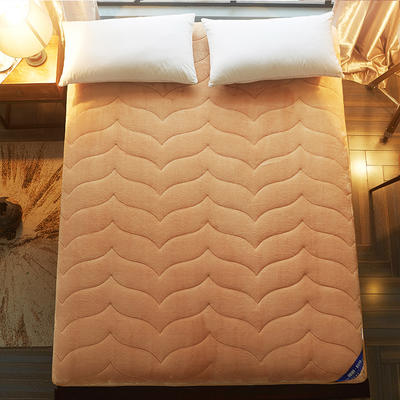 2019新款驼毛绒加厚床垫2色(7cm) 90*200 驼毛绒驼色