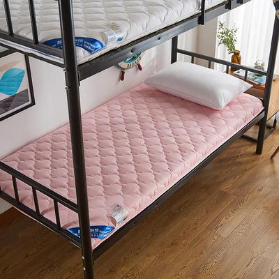 2019新款全棉英威达抗菌防螨学生床垫(4cm加厚) 90*190 粉色