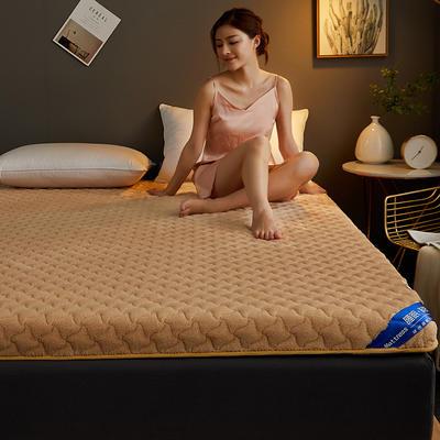 2019新品加绒款乳胶记忆棉 90*200 单边加绒款-驼色(9cm)