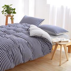针织棉系列(床单款) 小小号(0.9-1.2米床) 蓝灰中条800