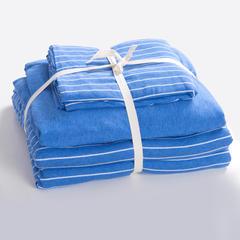 针织棉系列(床笠款) 小小号(1.2米床) 蓝白细条800