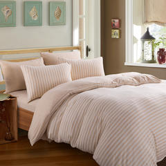 针织棉系列(床笠款) 小小号(1.2米床) 米黄中条