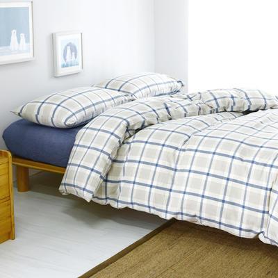 水洗棉单品(床单) 170*250cm 英伦蓝