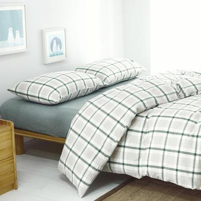 水洗棉单品(床单) 170*250cm 英伦绿