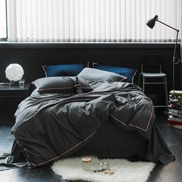 爱尚佳英伦织带款四件套(床单款/床笠款) 中号床单款(1.5m-1.8m床) 巴洛克-深灰