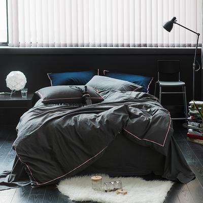 爱尚佳英伦织带款四件套(床单款/床笠款) 2.0m(6.6英尺)床 巴洛克-深灰