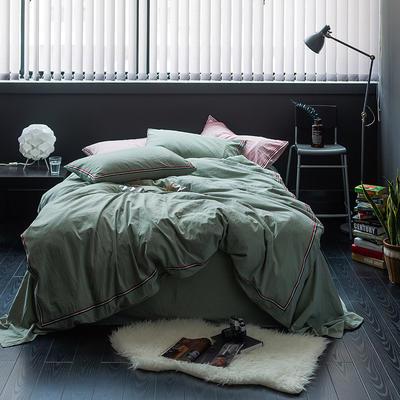爱尚佳英伦织带款四件套(床单款/床笠款) 2.0m(6.6英尺)床 巴洛克-水绿