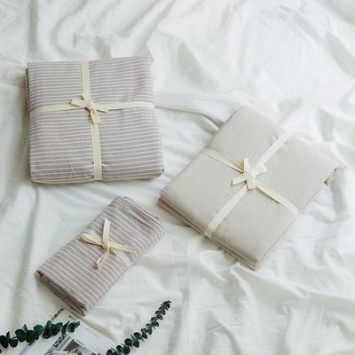 水洗棉单品(床单) 170*250cm 米细条