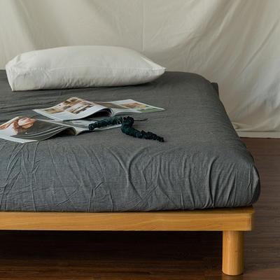 水洗棉单品(床笠) 120*200cm 纯灰